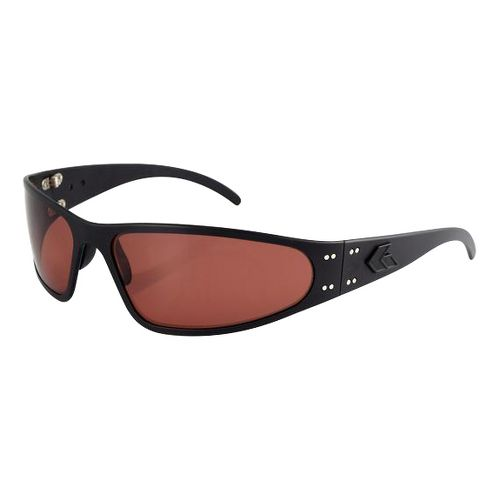 Mens Gatorz Wraptor Sunglasses - Black/Rose Polarized