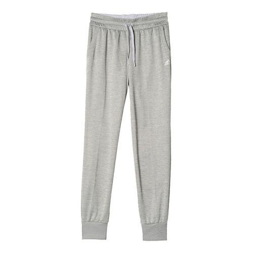 Womens Adidas Team Issue Fleece Jogger Pants - Light Grey Heather L