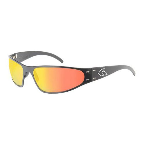 Mens Gatorz Wraptor Sunglasses - Black/Polarized