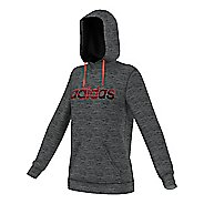 Womens Adidas Team Issue Fleece Pullover Logo Half-Zips & Hoodies Technical Tops
