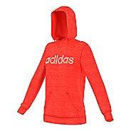 Womens Adidas Team Issue Fleece Pullover Logo Half-Zips & Hoodies Technical Tops