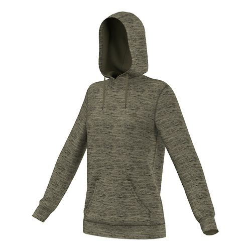 Womens Adidas Team Issue Fleece Pullover Half-Zips & Hoodies Technical Tops - Olive Cargo ...