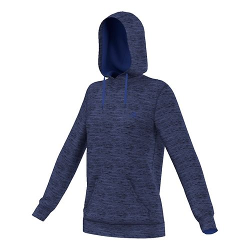 Womens Adidas Team Issue Fleece Pullover Half-Zips & Hoodies Technical Tops - Unity Ink Heather ...