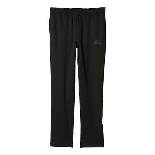 Womens Adidas Team Issue Fleece Tapered Pants - Black Heather/Grey 2XL