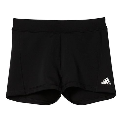 Womens Adidas Techfit Boy Short Compression & Fitted Shorts - Black/Silver XL