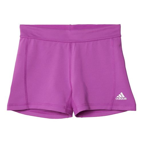 Womens Adidas Techfit Boy Short Compression & Fitted Shorts - Shock Purple/Silver S