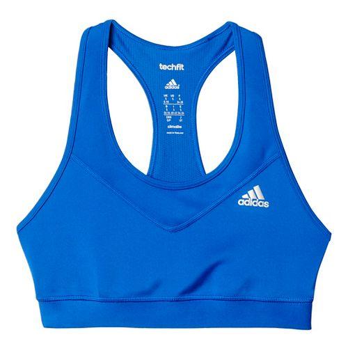 Womens Adidas Techfit Sports Bras - Bold Blue/Silver S