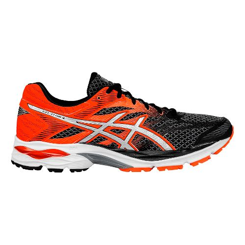 Mens ASICS GEL-Flux 4 Running Shoe - Black/Orange 11.5