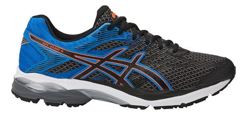 Mens ASICS GEL-Flux 4 Running Shoe - Carbon/Blue 7