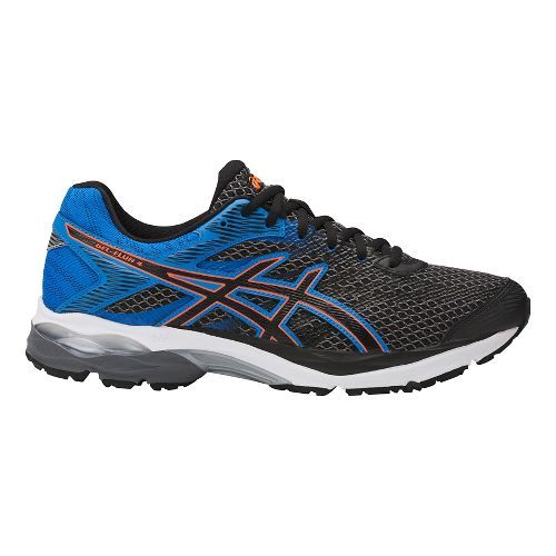 Mens ASICS GEL-Flux 4 Running Shoe - Carbon/Blue 10.5