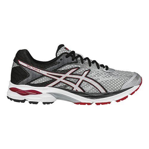 Mens ASICS GEL-Flux 4 Running Shoe - Grey/Vermilion 12.5