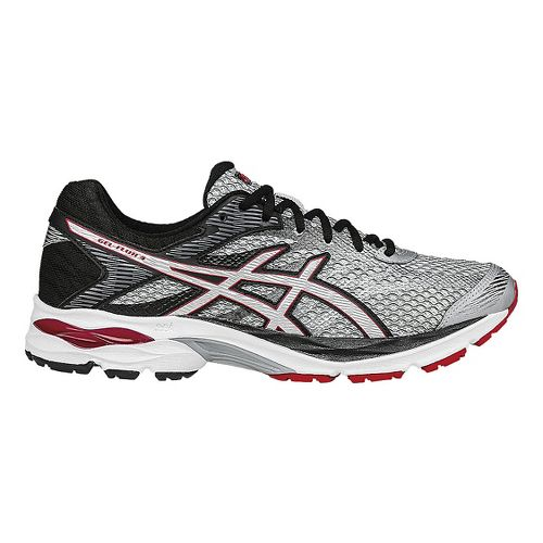 Mens ASICS GEL-Flux 4 Running Shoe - Grey/Vermilion 7.5