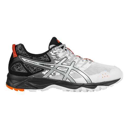 Mens ASICS GEL-Sonoma 3 Trail Running Shoe - White/Orange 11.5