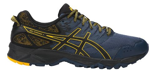 Mens ASICS GEL-Sonoma 3 Trail Running Shoe - Navy/Gold 8