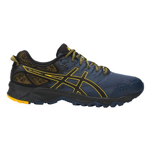 Mens ASICS GEL-Sonoma 3 Trail Running Shoe - Navy/Gold 12.5