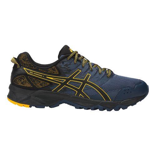 Mens ASICS GEL-Sonoma 3 Trail Running Shoe - Blue/Black/Lemon 8.5