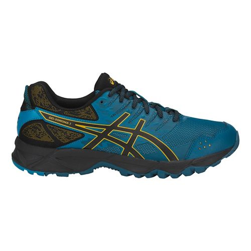 Mens ASICS GEL-Sonoma 3 Trail Running Shoe - Blue/Black/Lemon 14