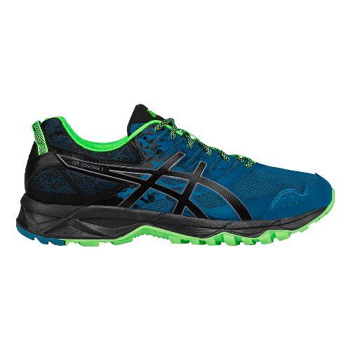 Mens ASICS GEL-Sonoma 3 Trail Running Shoe - Blue/Green 7.5