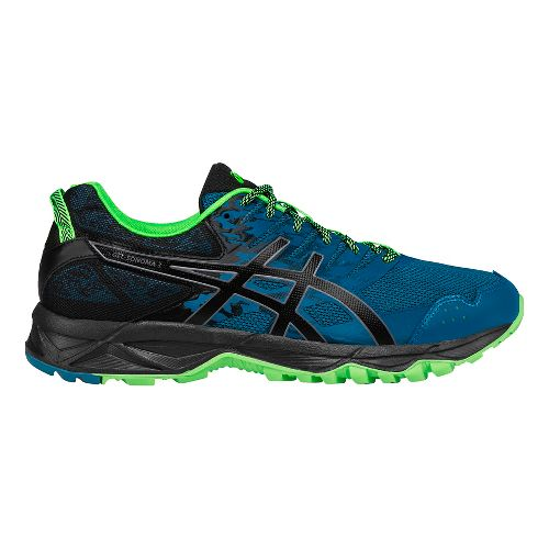 Mens ASICS GEL-Sonoma 3 Trail Running Shoe - Blue/Green 9