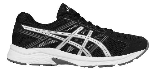 Mens ASICS GEL-Contend 4 Running Shoe - Black/Silver 12.5