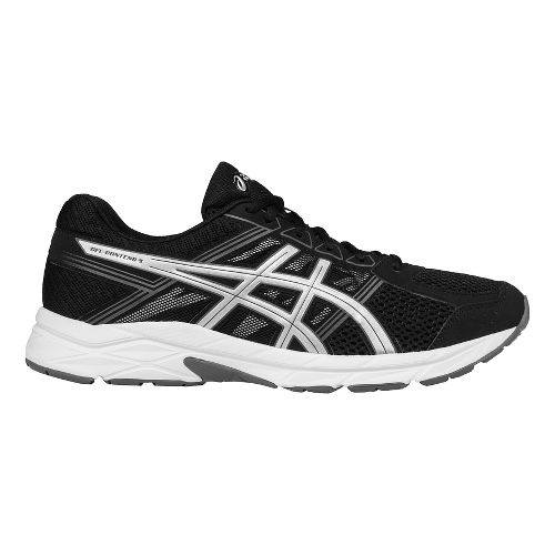 Mens ASICS GEL-Contend 4 Running Shoe - Black/Silver 12