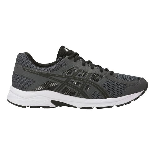 Mens ASICS GEL-Contend 4 Running Shoe - Dark Grey/Black 7.5