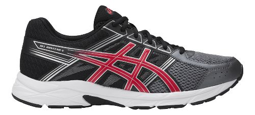 Mens ASICS GEL-Contend 4 Running Shoe - Carbon/Red 6.5