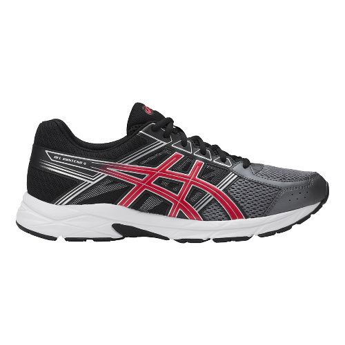 Mens ASICS GEL-Contend 4 Running Shoe - Carbon/Red 8