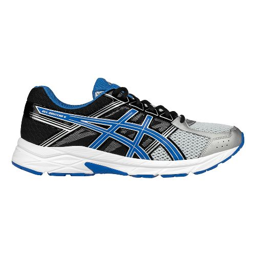 Mens ASICS GEL-Contend 4 Running Shoe - Silver/Blue 12.5