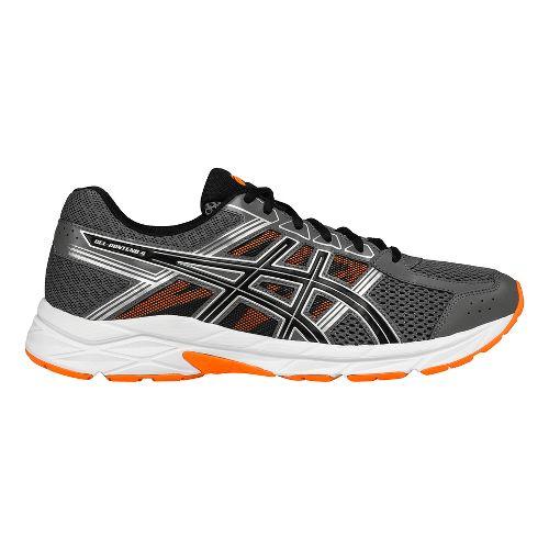 Mens ASICS GEL-Contend 4 Running Shoe - Carbon/Orange 6.5