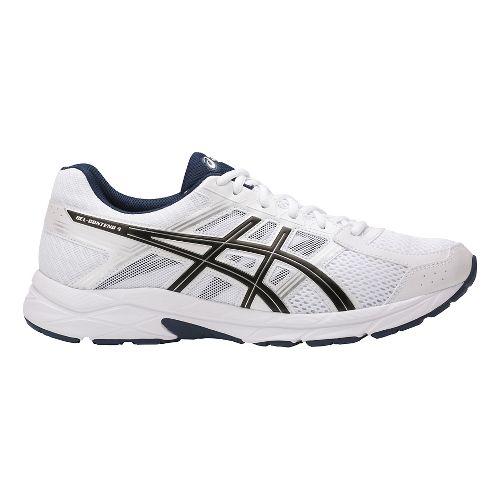 Mens ASICS GEL-Contend 4 Running Shoe - White/Black 12.5