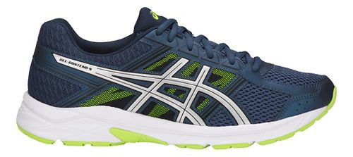 Mens ASICS GEL-Contend 4 Running Shoe - Blue/Silver/Yellow 15