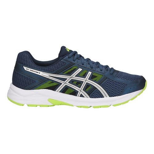 Mens ASICS GEL-Contend 4 Running Shoe - Blue/Silver/Yellow 8