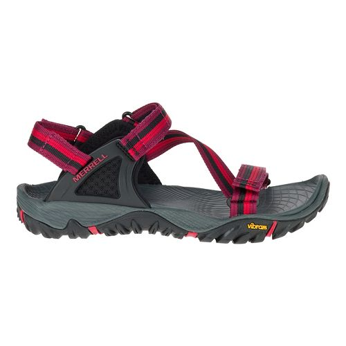 Womens Merrell All Out Blaze Web Hiking Shoe - Beet Red 5