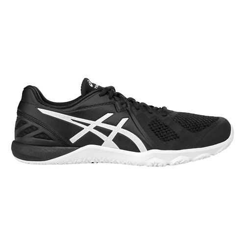 Mens ASICS Conviction X Cross Training Shoe - Black/White 14