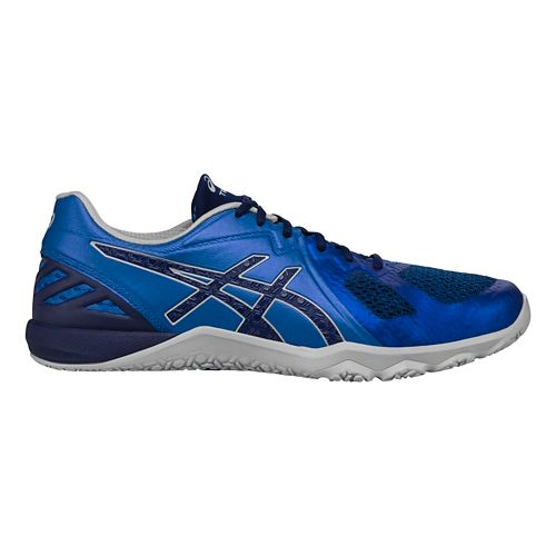 Mens ASICS Conviction X Cross Training Shoe - Blue/Grey 7.5
