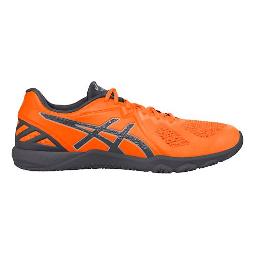 Mens ASICS Conviction X Cross Training Shoe - Orange/Carbon 7