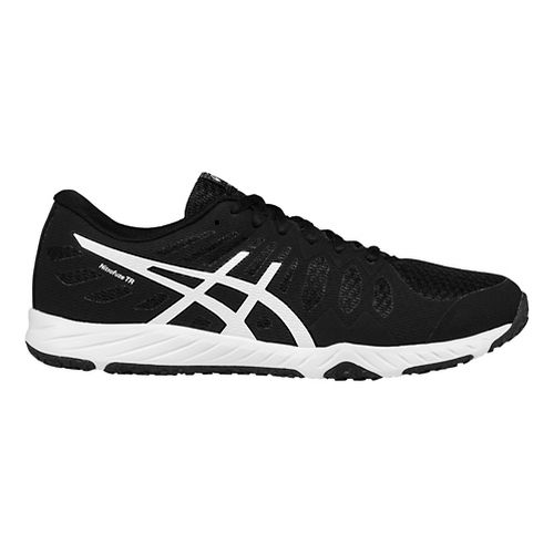 Mens ASICS Gel-Nitrofuze TR Cross Training Shoe - Black/White 11.5