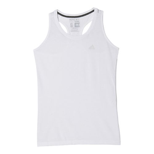Womens Adidas Ultimate Sleeveless & Tank Tops Technical Tops - White/Silver XL