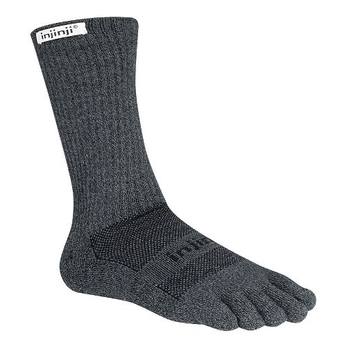 Injinji TRAIL Midweight Crew Coolmax Socks - Granite M