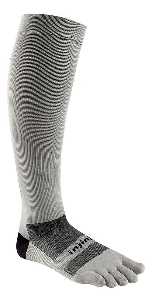 Injinji Ultra Compression Over The Calf Socks - Grey L