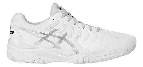 Mens ASICS Gel-Resolution 7 Court Shoe - White/Silver 11