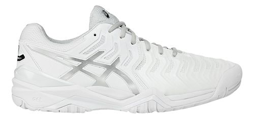 Mens ASICS Gel-Resolution 7 Court Shoe - White/Silver 11.5