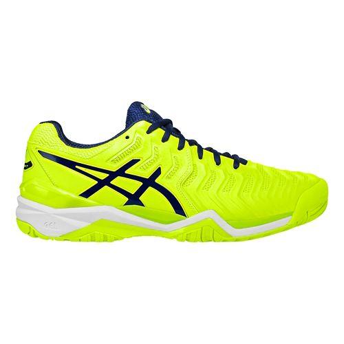 Mens ASICS Gel-Resolution 7 Court Shoe - Yellow/Blue 11.5