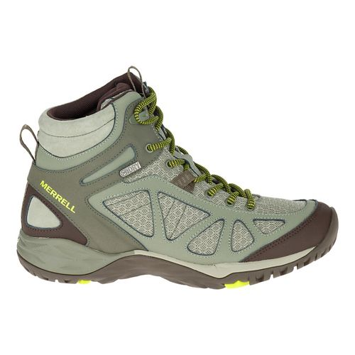 Womens Merrell Siren Sport Mid WTPF Hiking Shoe - Dusty Olive 10.5