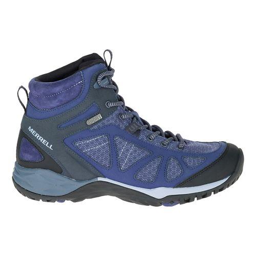 Womens Merrell Siren Sport Mid WTPF Hiking Shoe - Crown Blue 6.5