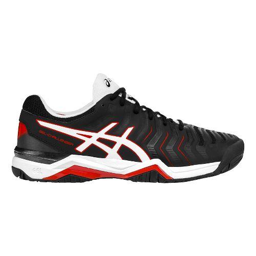 Mens ASICS Gel-Challenger 11 Court Shoe - Black/White 7