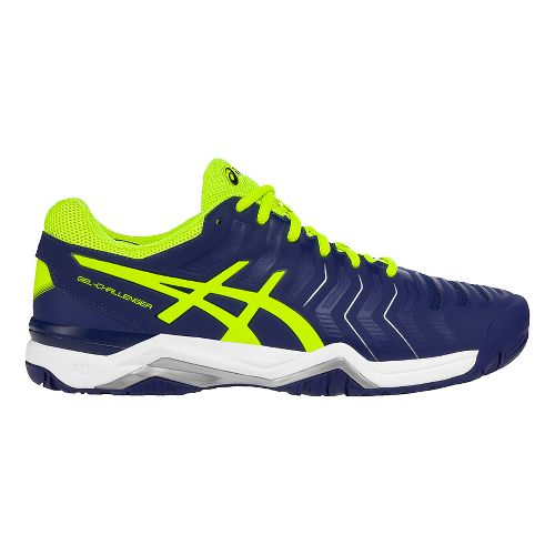 Mens ASICS Gel-Challenger 11 Court Shoe - Blue/Safety Yellow 8.5