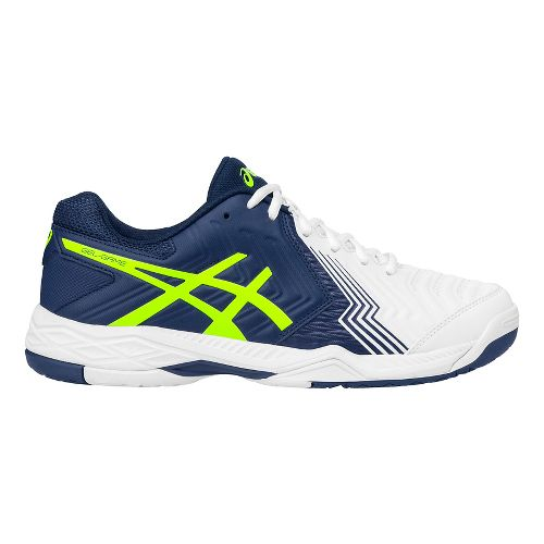 Mens ASICS Gel-Game 6 Court Shoe - White/Blue 12.5
