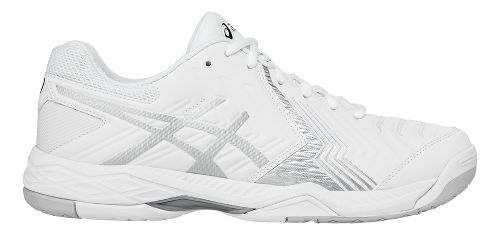 Mens ASICS Gel-Game 6 Court Shoe - White/Silver 7.5